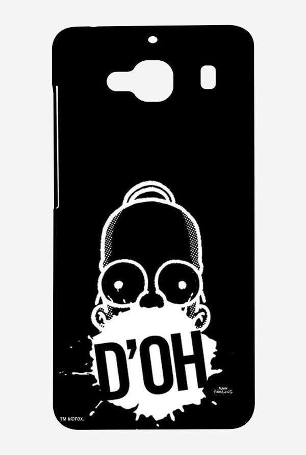 Simpsons D'OH Black Case for Xiaomi Redmi 2