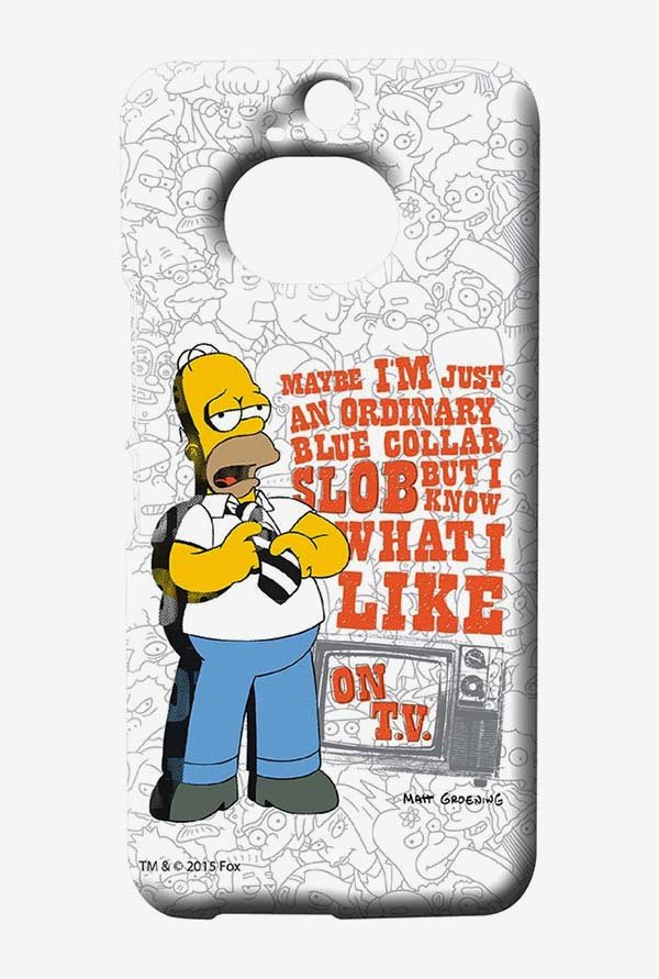 Simpsons Blue Collar Slob Case for HTC One M9 Plus