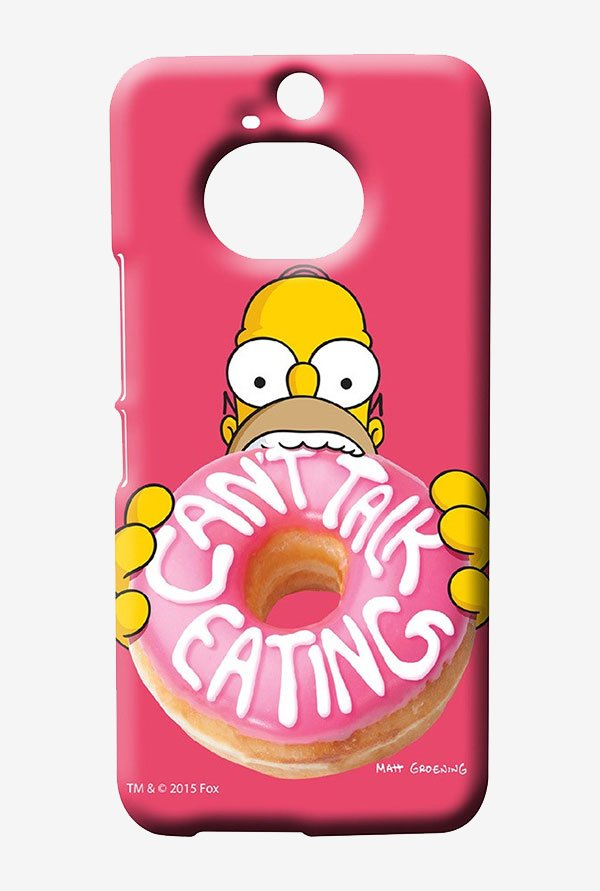 Simpsons Cant Talk Eating Pink Case for HTC One M9 Plus
