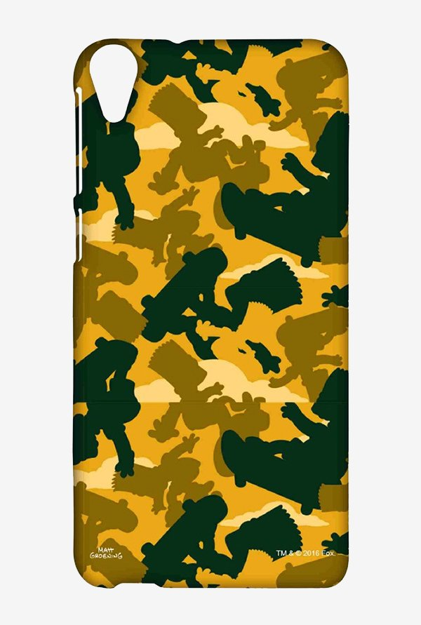 Simpsons Camo Bart Case for HTC Desire 820