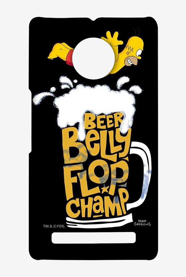 Simpsons Beer Belly Flop Champ Black Case for Yu Yuphoria