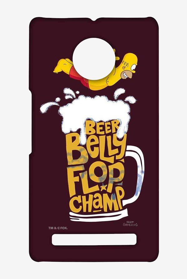Simpsons Beer Belly Flop Champ Maroon Case for Yu Yuphoria
