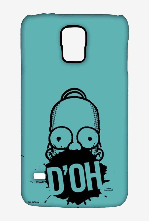 Simpsons D'OH Teal Case for Samsung S5
