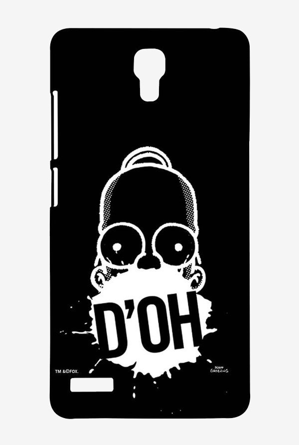 Simpsons D'OH Black Case for Xiaomi Redmi Note Prime