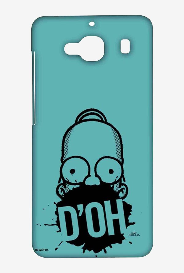 Simpsons D'OH Teal Case for Xiaomi Redmi 2 Prime