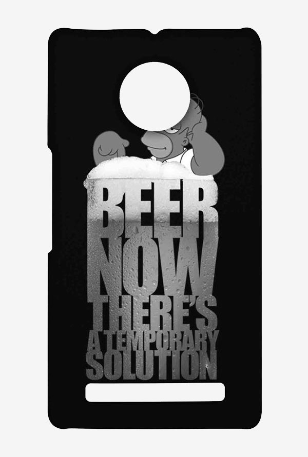 Simpsons The Beer Solution Black Case for Yu Yuphoria