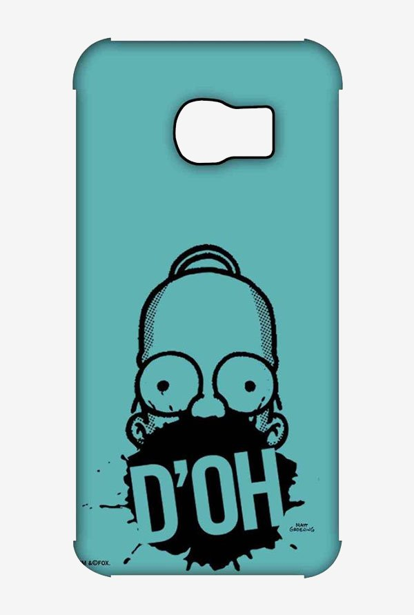 Simpsons D'OH Teal Case for Samsung S6 Edge