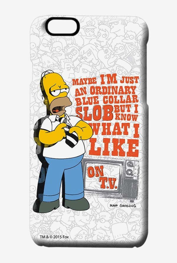 Simpsons Blue Collar Slob Case for iPhone 6