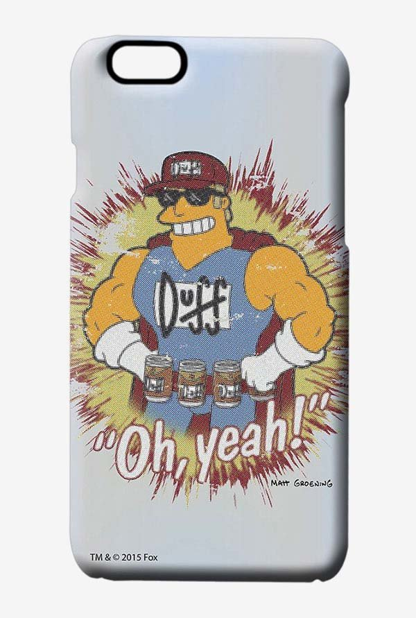 Simpsons Duff Oh Yeah Case for iPhone 6