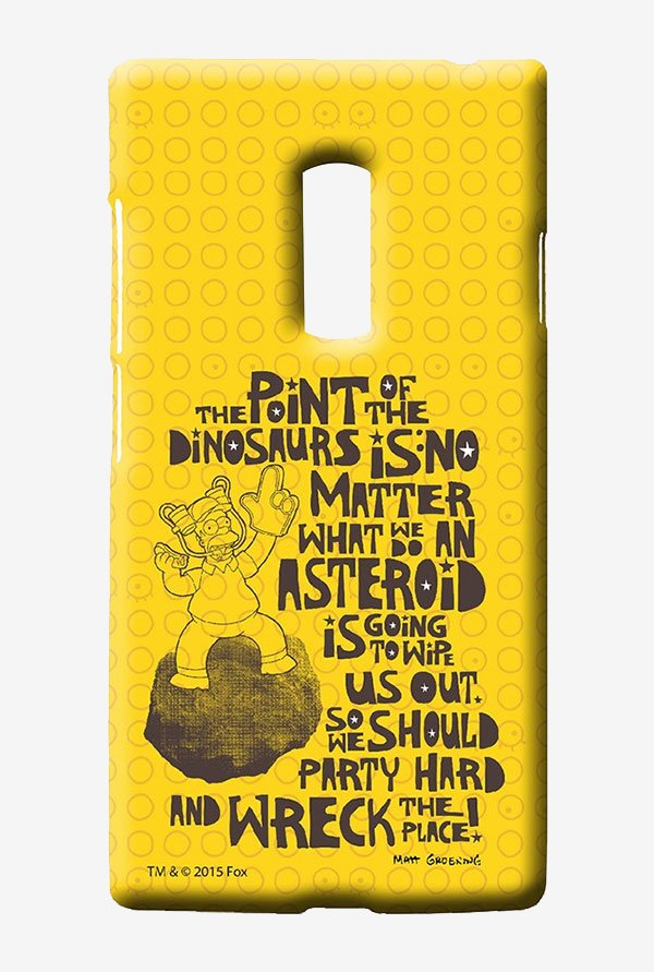 Simpsons The Dinosaur Theory Case for Oneplus Two