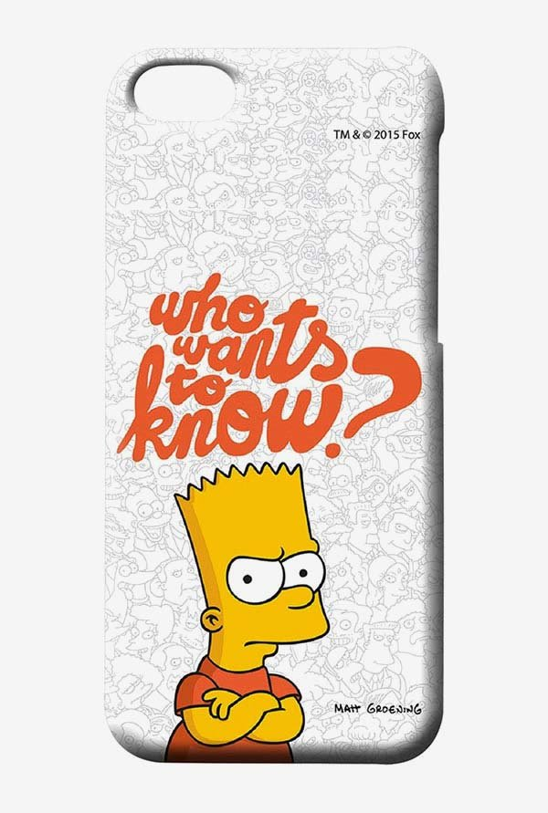 Simpsons Who Wants To Know Case for iPhone 5C