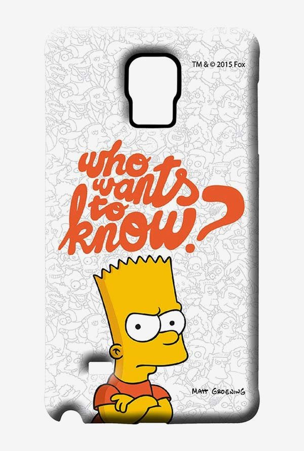 Simpsons Who Wants To Know Case for Samsung Note 4