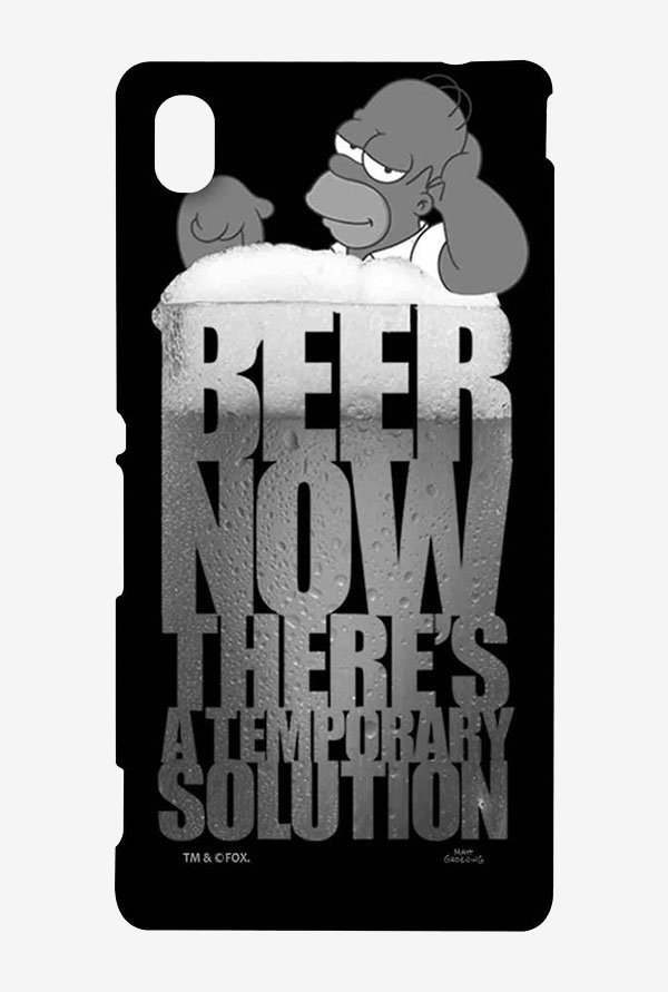 Simpsons The Beer Solution Black Case for Sony Xperia M4