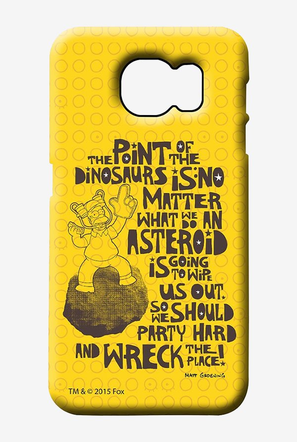 Simpsons The Dinosaur Theory Case for Samsung S6