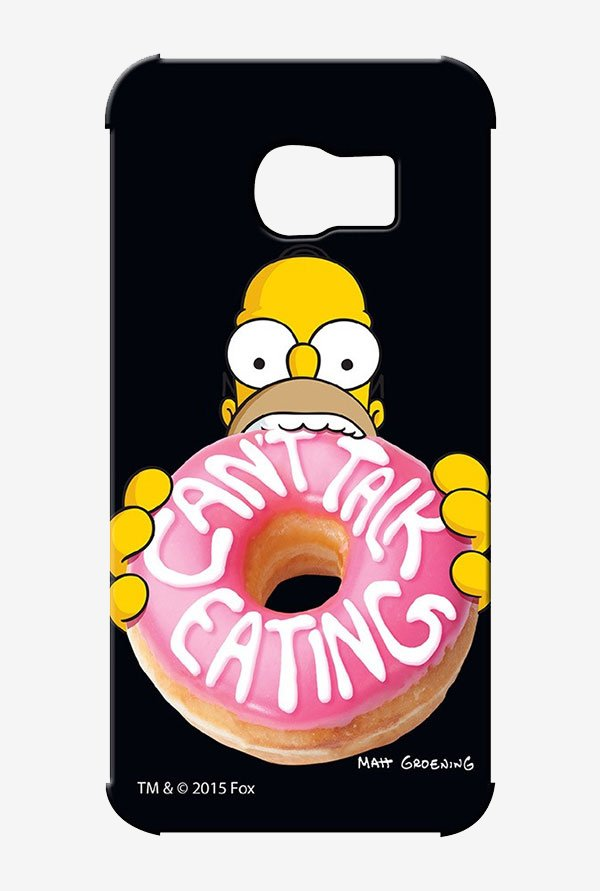 Simpsons Cant Talk Eating Black Case for Samsung S6 Edge
