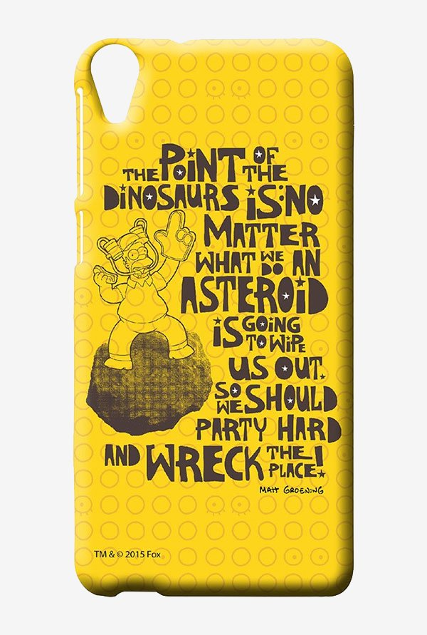 Simpsons The Dinosaur Theory Case for HTC Desire 820