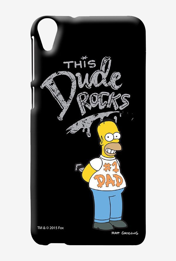 Simpsons This Dude Rocks Case for HTC Desire 820