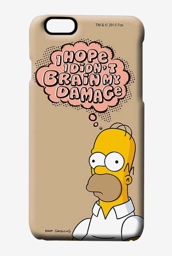 Simpsons Brain Humour Case for iPhone 6s