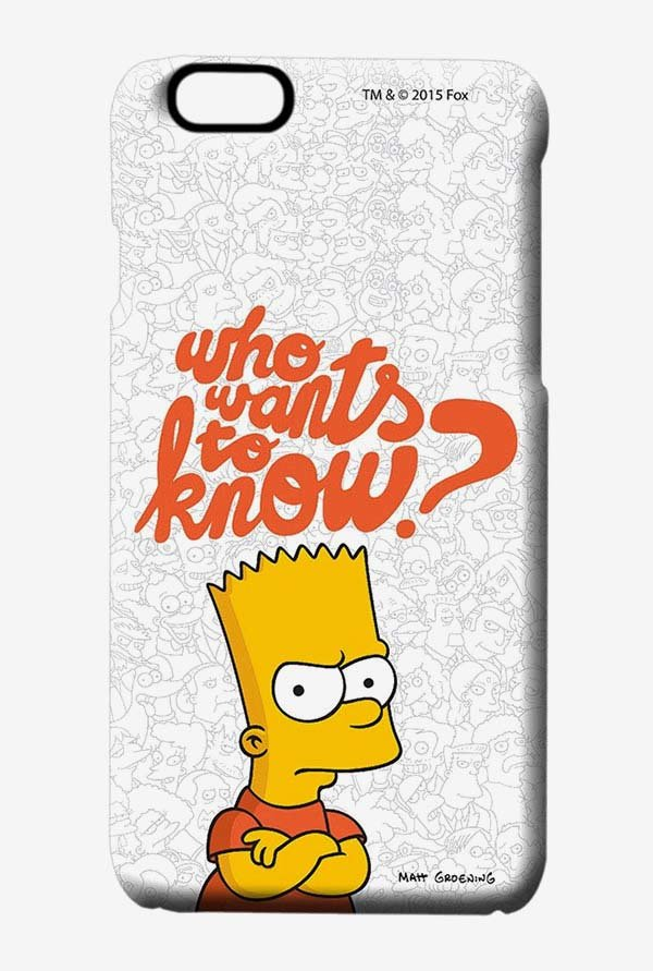 Simpsons Who Wants To Know Case for iPhone 6s
