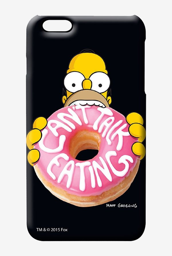 Simpsons Cant Talk Eating Black Case for iPhone 6s Plus