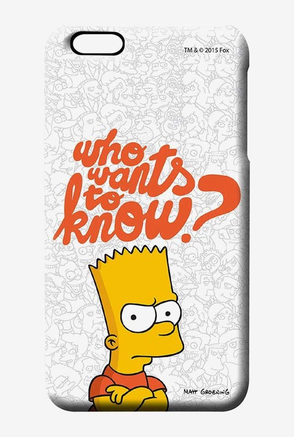 Simpsons Who Wants To Know Case for iPhone 6s Plus
