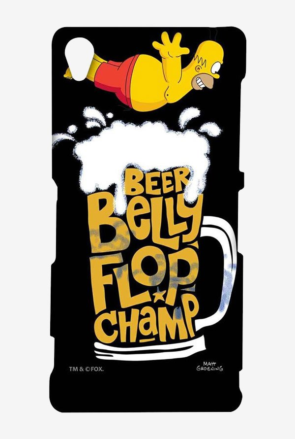 Simpsons Beer Belly Flop Champ Black Case for Sony Xperia Z3