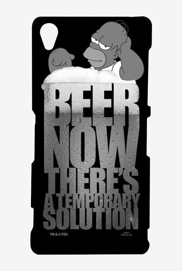 Simpsons The Beer Solution Black Case for Sony Xperia Z3