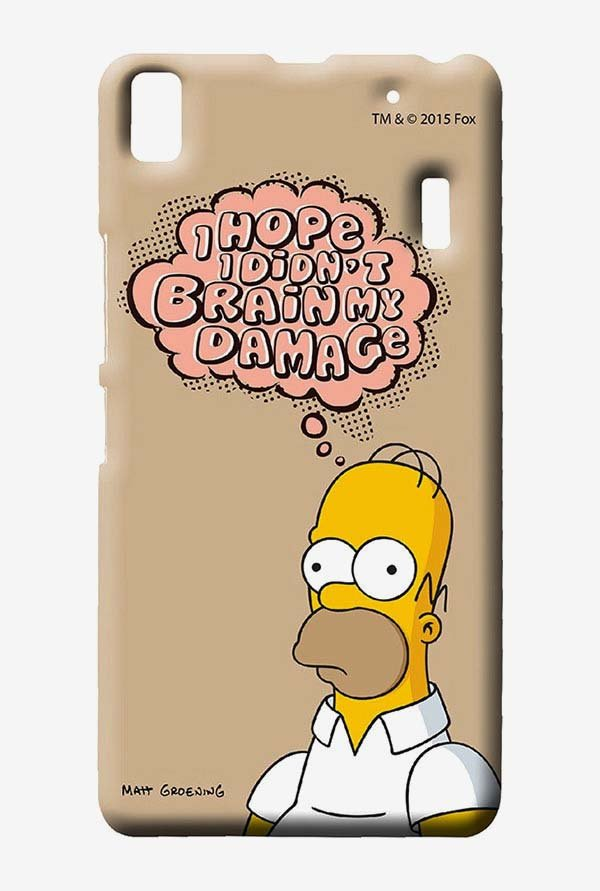 Simpsons Brain Humour Case for Lenovo K3 Note
