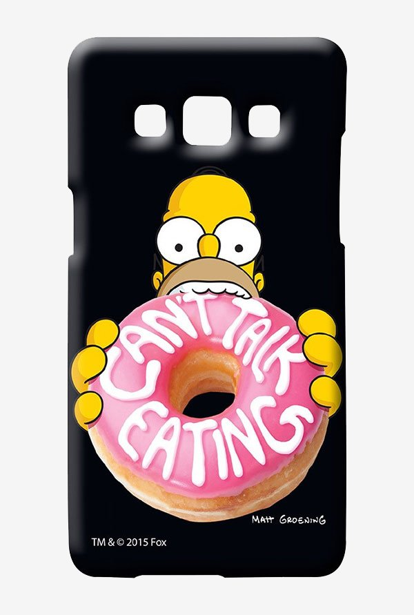 Simpsons Cant Talk Eating Black Case for Samsung Galaxy A7