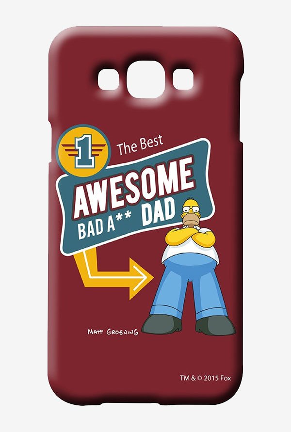 Simpsons Awesome Dad Case for Samsung Galaxy E7