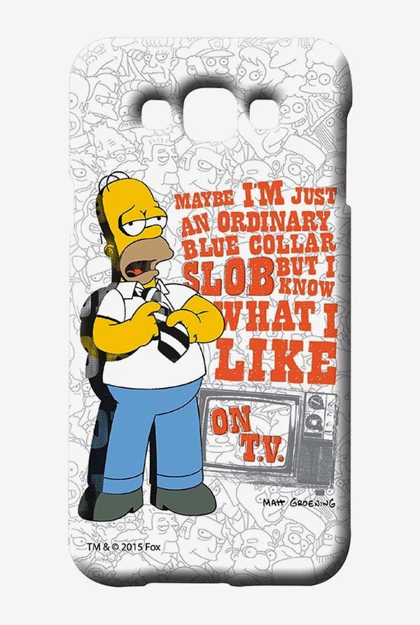 Simpsons Blue Collar Slob Case for Samsung Galaxy E7