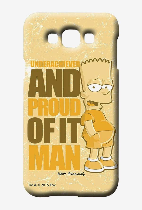 Simpsons Proud Underachiever Case for Samsung Galaxy E7