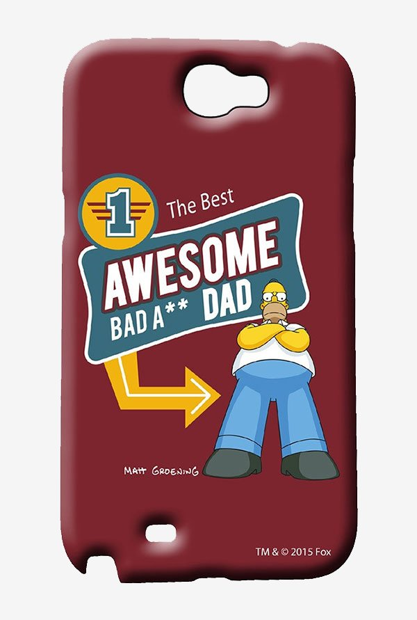 Simpsons Awesome Dad Case for Samsung Note 2