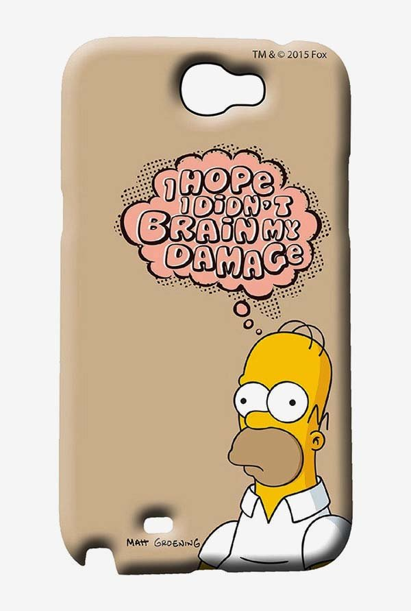 Simpsons Brain Humour Case for Samsung Note 2