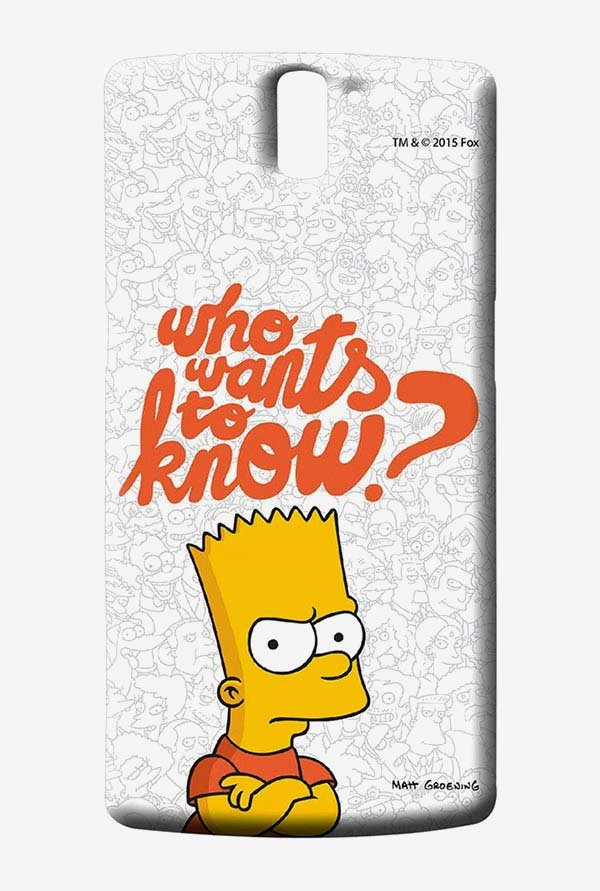 Simpsons Who Wants To Know Case for Oneplus One