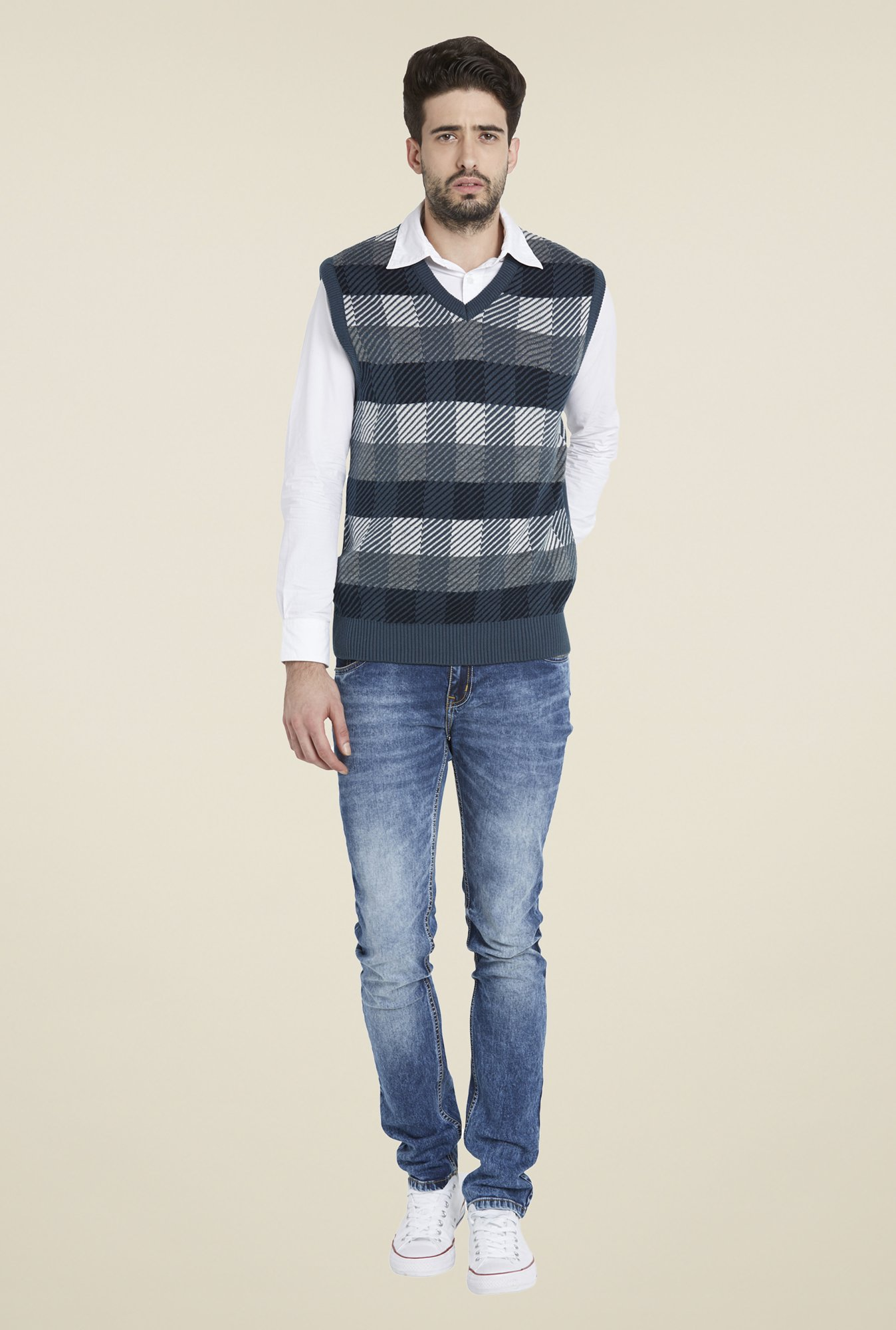Globus Blue Checks Sweater