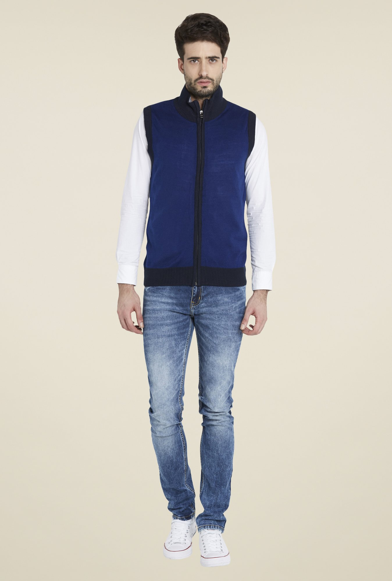 Globus Blue Sleeveless Jacket