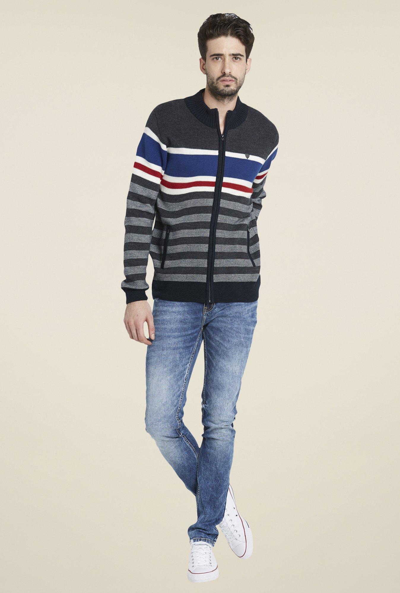 Globus Grey Cool Striped Jacket