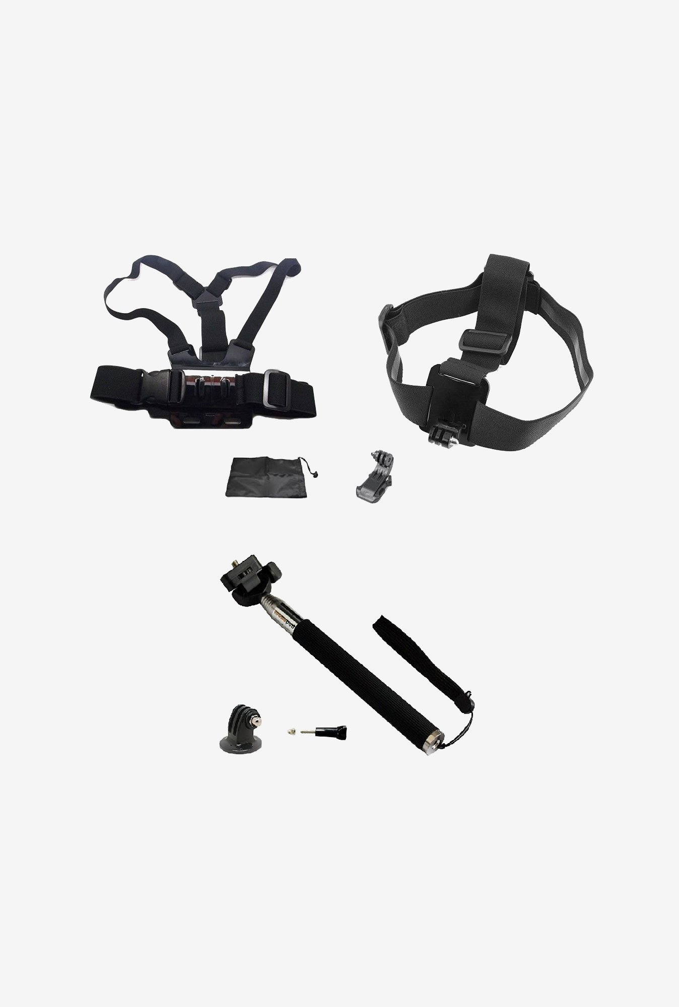 Accessories ST-143 Kit for Gopro Hero Cameras (Black)