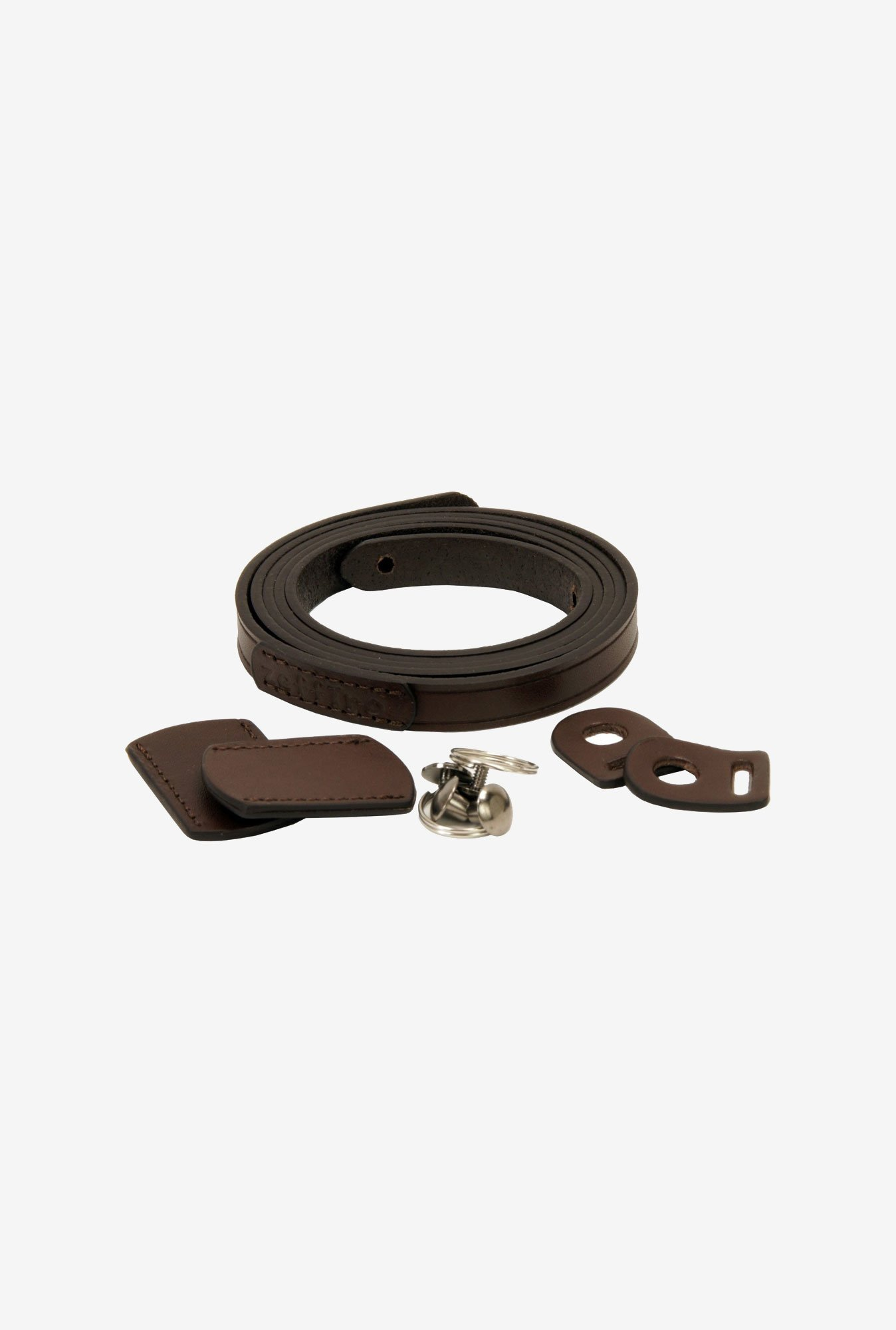 Zeffiro Whole Leather Camera Shoulder Strap (Dark Brown)