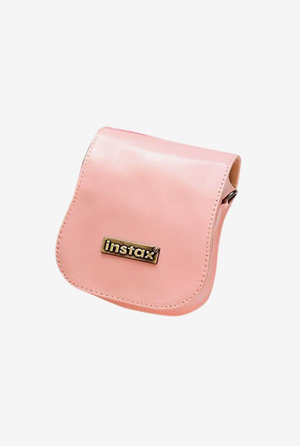 Generic Leather Bag for Fujifilm Mini 25 Camera (Pink)