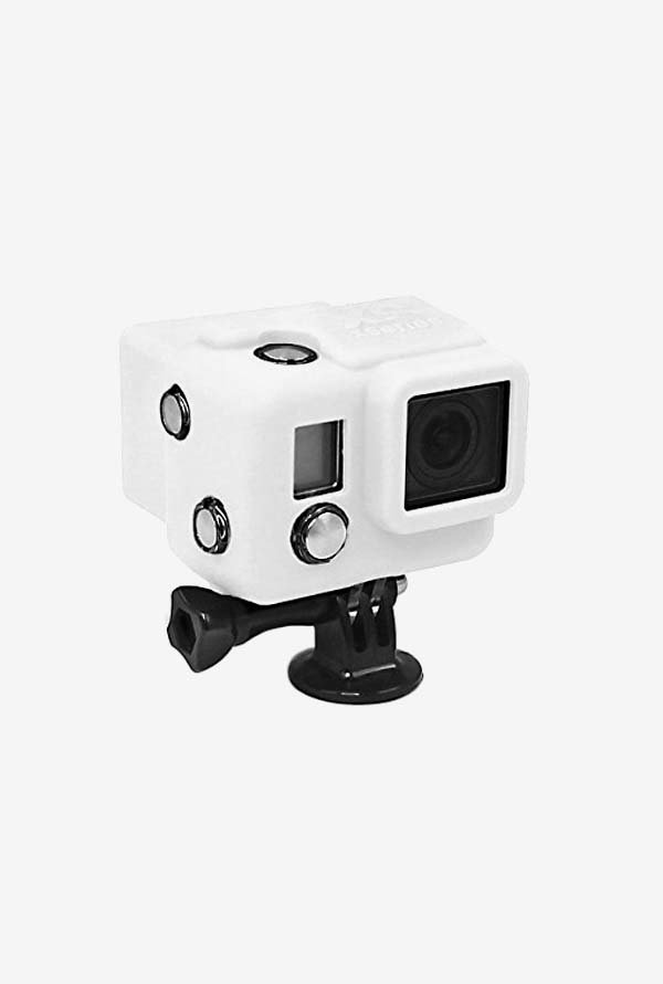 Series Hooded Silicone Cover for Gopro 3+/4 (White)
