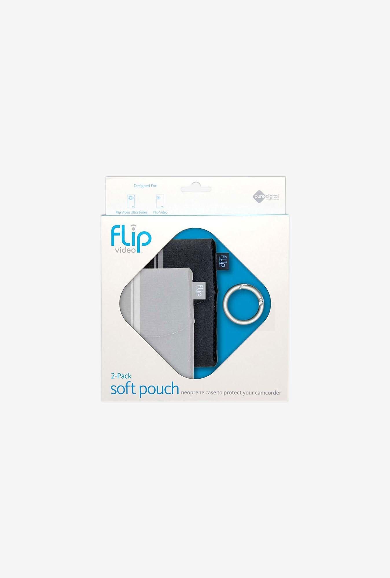 Flip Video Soft Pouch for Flip video cameras (Black/Grey)