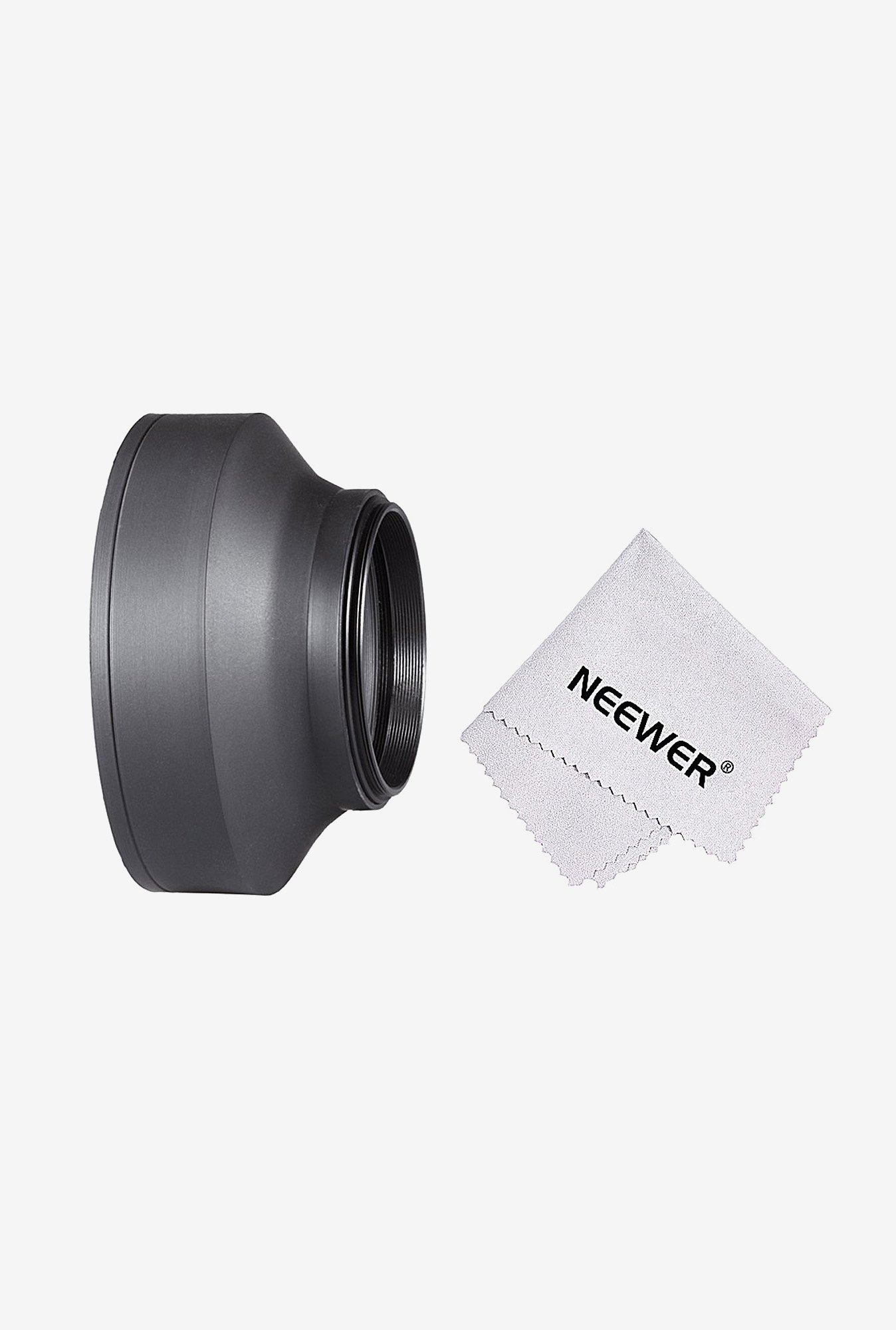 Neewer 10083958 62mm Collapsible Rubber Lens Hood (Black)