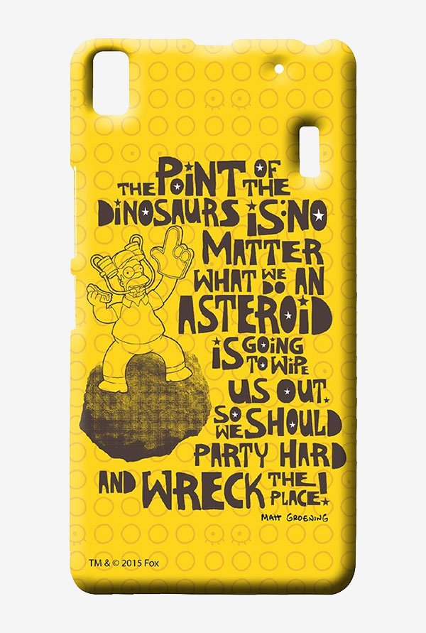Simpsons The Dinosaur Theory Case for Lenovo K3 Note