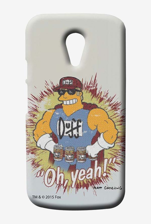 Simpsons Duff Oh Yeah Case for Moto G2