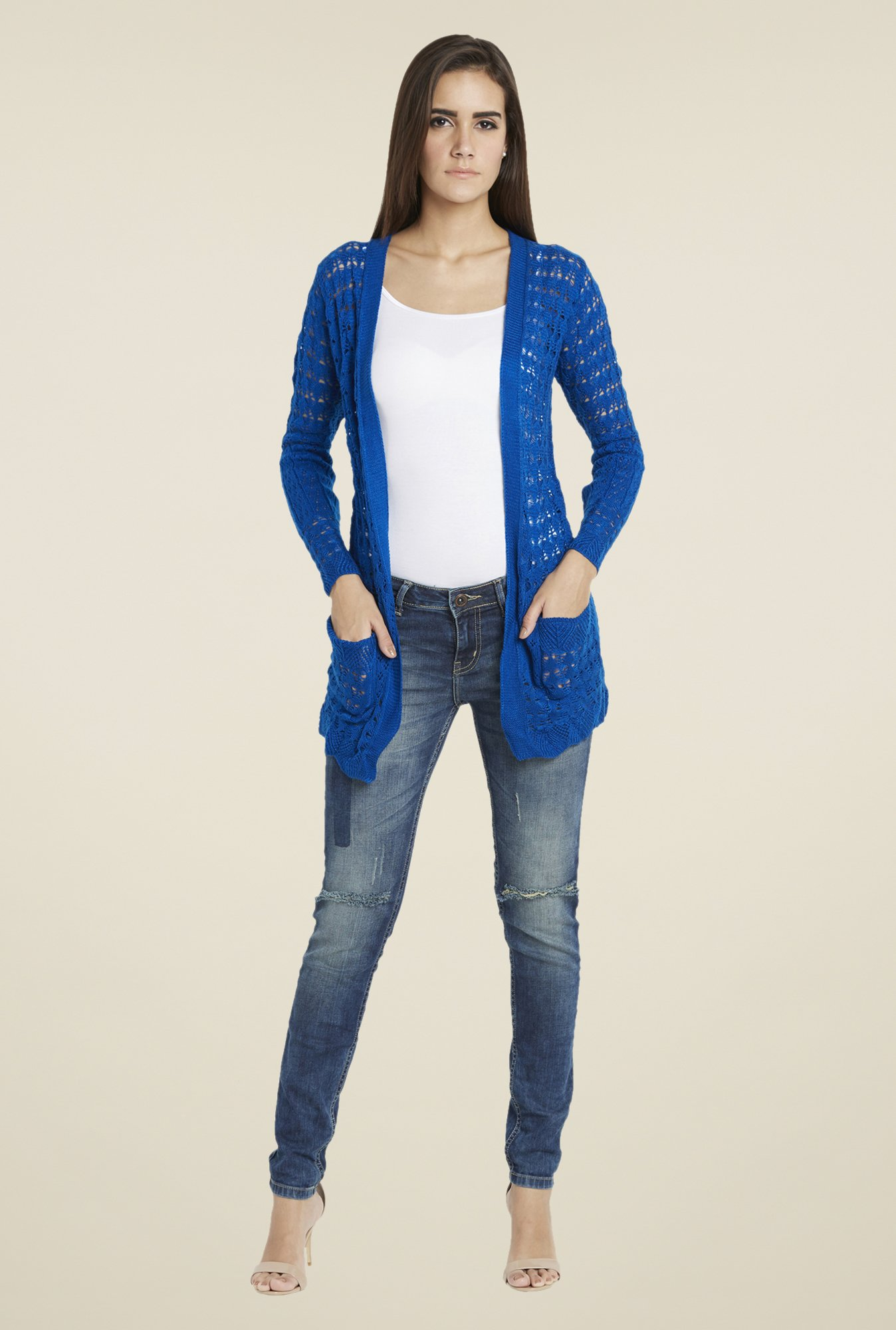 Globus Blue Lace Shrug