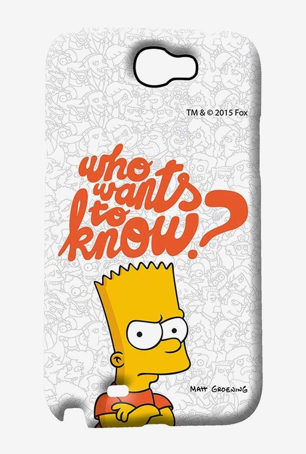 Simpsons Who Wants To Know Case for Samsung Note 2