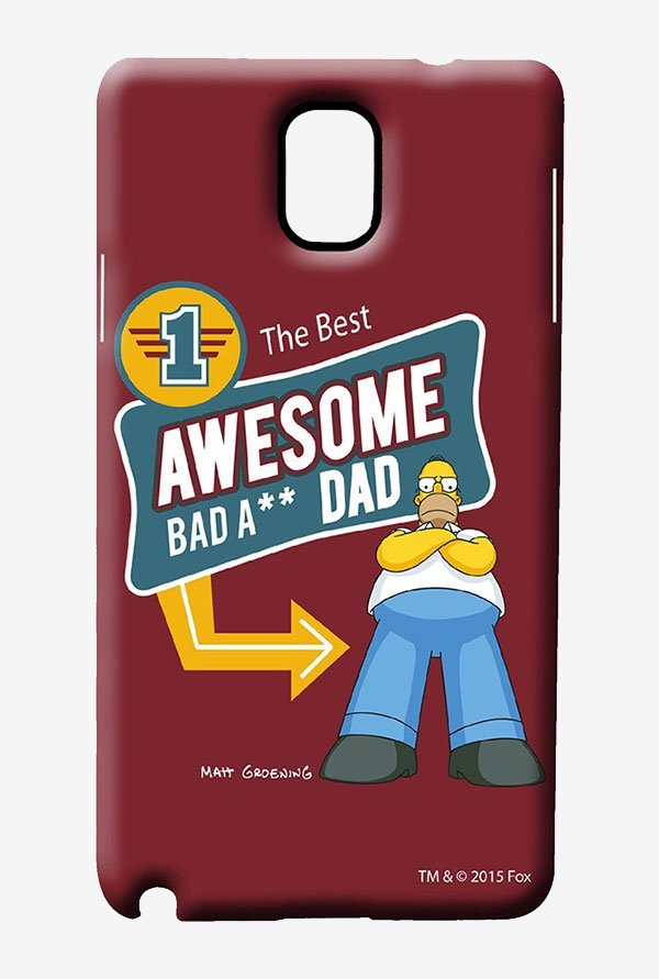 Simpsons Awesome Dad Case for Samsung Note 3