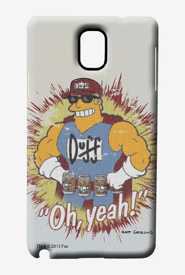 Simpsons Duff Oh Yeah Case for Samsung Note 3